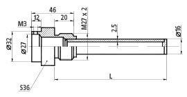 Гильза защитная 908.1857.035 на Ру max 25 МПа