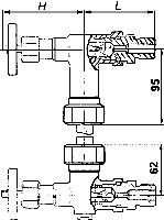 Внешние размеры запорного устройство 12с13бк