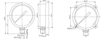 Габаритные размеры ДМ 8008 (Д корп. 100 мм)